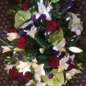 Double Ended Spray-Red, Purple, Lime and White - All About Flowers Online Ordering