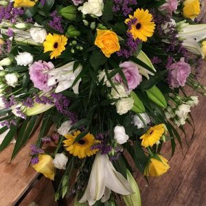 Teardrop Spray-lilac, yellow and white - All About Flowers Online Ordering